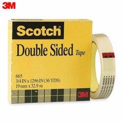 Cinta de doble cara 3M 665 material de oficina material escolar cintas adhesivas sujetadores cinta adhesiva de doble cara Scotch 665 en una caja transparente