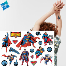 Hasbro Spiderman Marvel Ironman Batman Children Cartoon Temporary Tattoo Sticker For Boys Toys Waterproof  Kids Gift