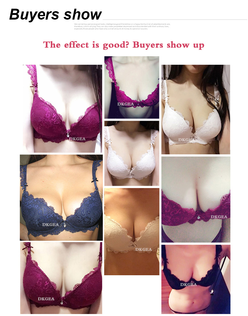 Classic Black Women Underwear Lace Embroidery Push up Bra Cotton Thick Brassiere A B C Cup Sexy Bras Adjustable Deep V Lingerie 2