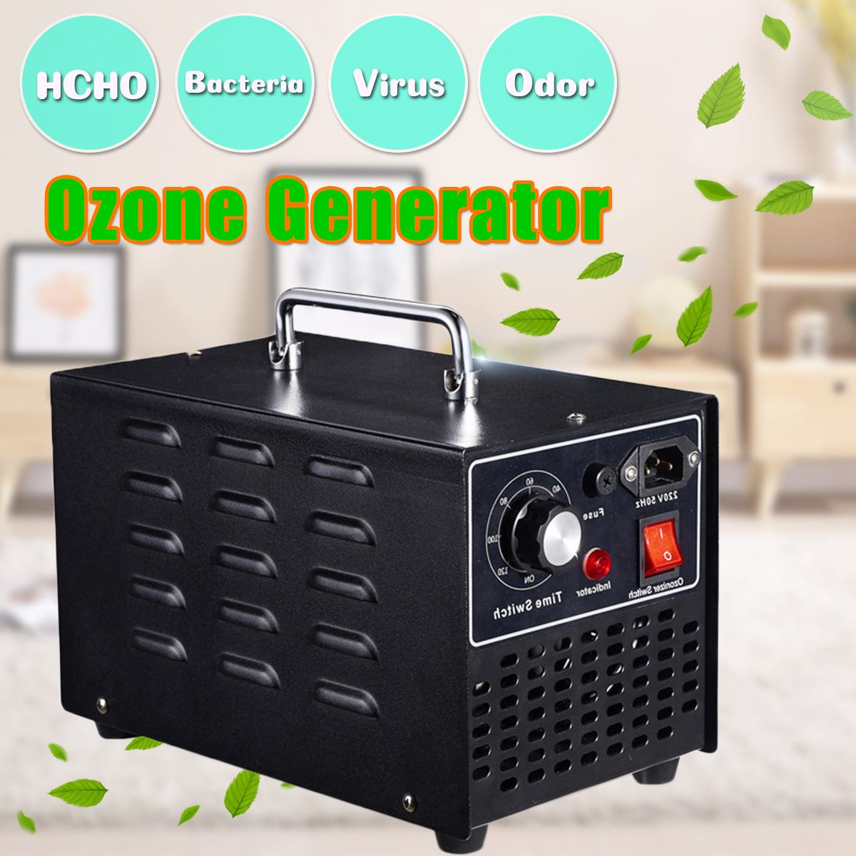 10g/h 220V/110V Ozone Generator Air Purifier for Indoor Household Ozonator Sterilization Odor Formaldehyde Air Cleaner Timer