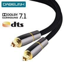 Cabo coaxial spdif, cabo de fibra bonby 7.1 soundbar 5.1, digital, óptico, toslink, para amplificadores, xbox 360