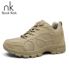 Men Desert Tactical Military Boots Camping Hiking Shoes Wear-Resistance Outdoor Boots Multi-Fundtion Climbing Sneakers For Men outdoor camping mountain high tube anti skid wear resistant shoe sneaker men tactical military ankle shock absorber desert boots