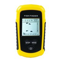 FF1108-1 sonar portátil alarme inventor de peixes eco sonoro 0.7-100 m transdutor sensor profundidade finder # b3 amarelo