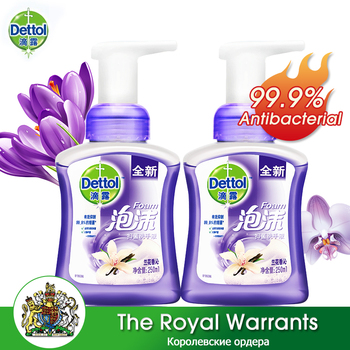 Dettol Orchid Foam Hand Sanitizer 250ml*2 Disposable Moisturizing Disinfecting Antibacterial Hand Wash Gel for Adults and Kids