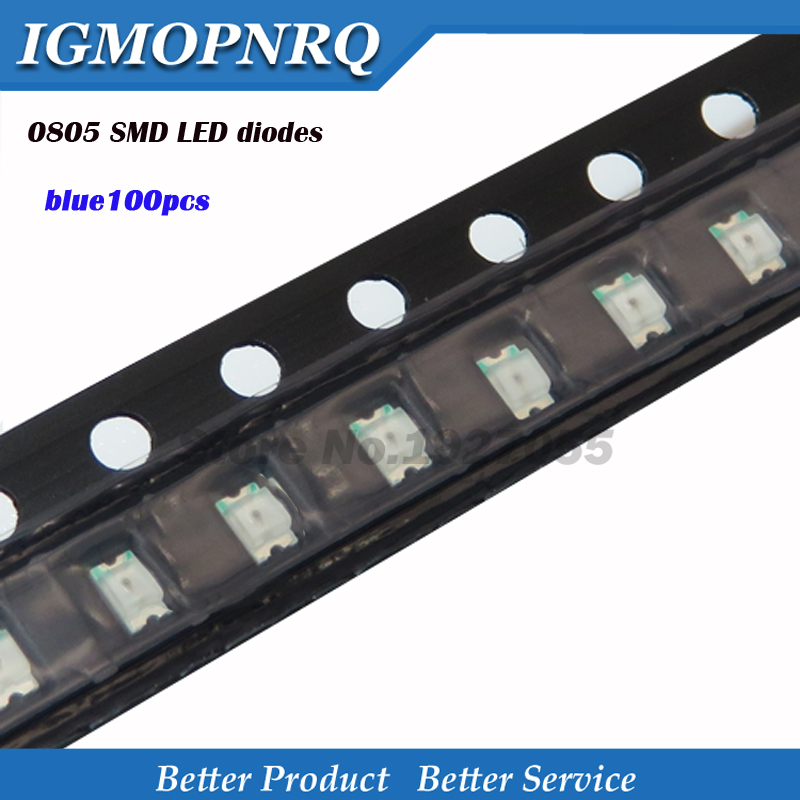 100pcs Superior Leds 0805 SMD Led Light Blue 0805 Light-emitting New