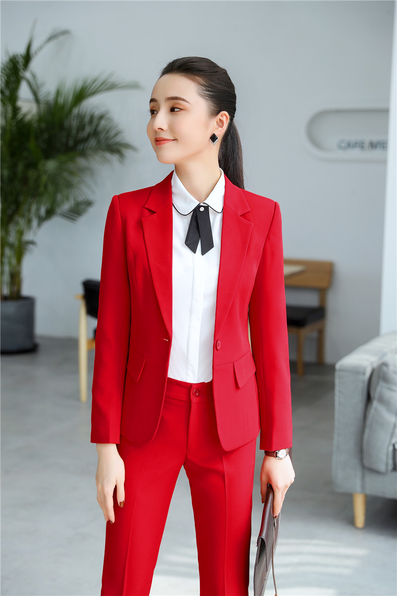 Formal Uniform Styles Pantsuits For Women Business Work Wear With Pants And Jackets Coat Ladies Professional Work Wear Blazers