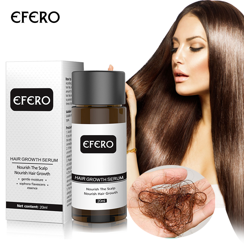 EFERO Hair Growth Essence Fast Powerful Hair Loss Product Beard Oil Growth Serum Essential Oils Hair Growth Treatment Hairs Care-in Hair Loss Products from Beauty & Health