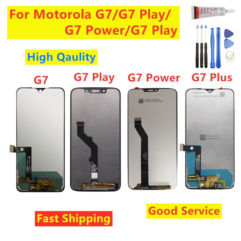For Motorola Moto G7 Power Display XT1955 LCD G7 Plus Touch Screen Digitizer G7 Play LCD Replacement XT1952 LCD For Moto G7 LCD