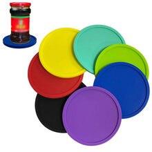 Runde Silikon Tisch Matten Drink Pad Tischset Wärmedämmung Einfarbig Bahnen Rutschfeste Wasserdicht Tasse Bahn Tisch Matte
