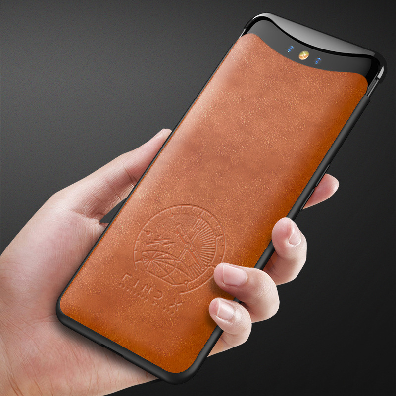 Oppo Find X Phone Case Lifting All Inclusive Personalized High-grade Fall Proof Leather Protective Cover попсокеты