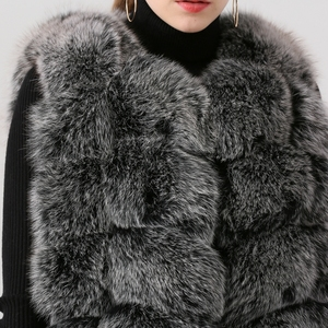 Image 4 - QIUCHEN PJ19035 2020 Nuovo arrivo reale della pelliccia di fox delle donne di inverno di modo della maglia della maglia di Trasporto libero caldo di vendita di spessore pellicce