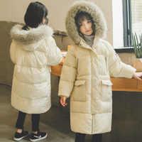 2019 coton rembourré nouveau hiver-30 enfants Jakcets coréen enfants Down & Parkas pour les filles chaud 8 9 10 12 13 manteaux à capuche adolescents