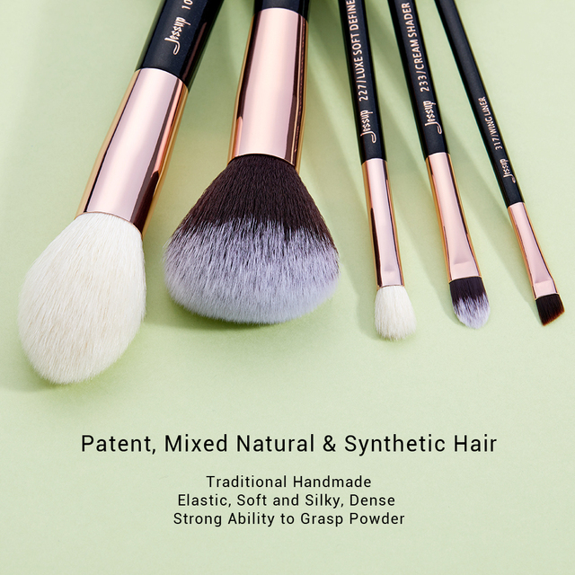 Jessup Rose Gold / Black Makeup brushes set Beauty Foundation Powder Eyeshadow Make up Brush 6pcs-25pcs 1