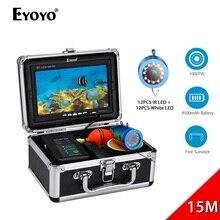 Eyoyo WF07 1000TVL 7 Inch Underwater Fish Finder Fishing Camera 12pcs White LED + 12pcs Infrared Lamp Fishfinder IP68 Waterproof
