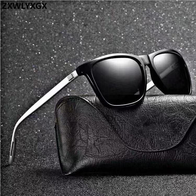 ZXWLYXGX Brand Unisex Retro Aluminum+TR90 Women Sunglasses  Men Polarized Lens Vintage Eyewear Accessories Sun Glasses Oculos
