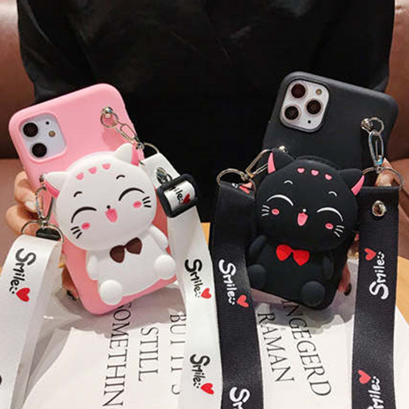 3D Cartoon Cat Wallet Case For Motorola Moto G5S Plus G5 G4 E6 Plus E5 Play E4 Plus X4 C Plus Z3 Z4 Play Cute Soft TPU Cover