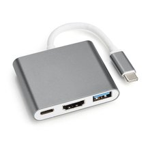 USB C HUB to HDMI Adapter For Macbook Pro/Air Thunderbolt 3 USB Type C Hub to HDMI 4K USB 3.0 Port USB-C Power Delivery for macbook pro samsung s8 dex usb c to hdmi adapter type c usb 3 1 hub usb c to usb 3 0 hdmi type c female converter cable