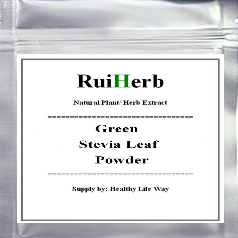 500gram (17.6oz), Organic Green Stevia Leaf Powder superfood free shipping image