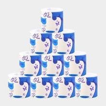 Туалетная бумага рулонах оптом / стандартное 3-х слойное ванной ткани ванной комнаты домочадца мягкие бумажные полотенца 1/2/6/10 роллы