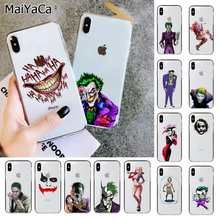MaiYaCa Harley Quinn Suicide Squad Joker Wink Transparent TPU Telefon Abdeckung für Apple iphone 11 pro 8 7 66S Plus X XS MAX 5S SE XR(China)