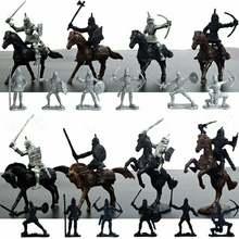 28 шт/компл средневековые рыцари воины лошади детские игрушки