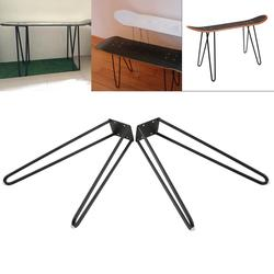 Coffee Table Hairpin Legs 17 Set of Two 10mm Solid Iron Bar W/ Screw