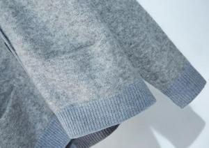 Image 5 - Женский трикотажный кардиган из смеси мохера и шерсти, свободный свитер на пуговицах с V образным вырезом, Осень зима 2019