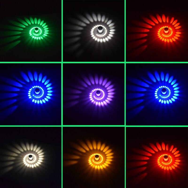 Cylindrical 3W 85-265V LED Wall Light Living Room Bar Bedroom KTV LED Spiral Wall Light Kitchen Cafe  LED Wall Light 5