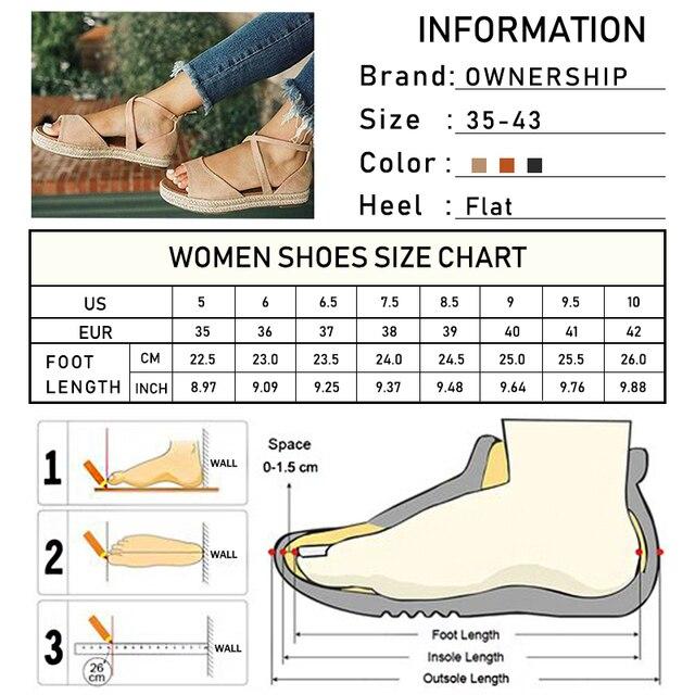 Sandalias de plataforma de mujer 2020, zapatos planos de gladiador con punta abierta y cremallera para mujer, zapatos de verano cómodos de talla grande para mujer 6