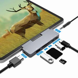 11-em-1 tipo c hub usb c para hdmi vga rj45 usb 3.0 portas sd/tf leitor de cartão USB-C entrega de energia para macbook pro com pd