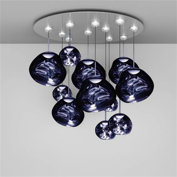 Nordic Glass Design Pendant Lights Lighting Coffee Glass Pendant Lamp Study Kitchen Fixtures Villa Duplex Apartment Hanging Lamp