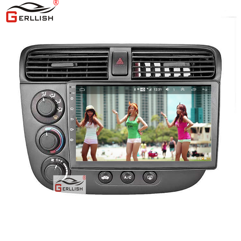 Android Radio Quad Core IPS Screen GPS Navigation Multimedia Auto Car DVD Player For Honda Civic 2001-2003 2004 2005