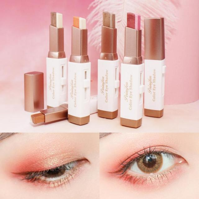 Two-color Gradient Stereo Eye Shadow Stick Pen Eyeshadow Stick Double Color Gradient Shadow Stick Shimmer Glitter Makeup TSLM1 1