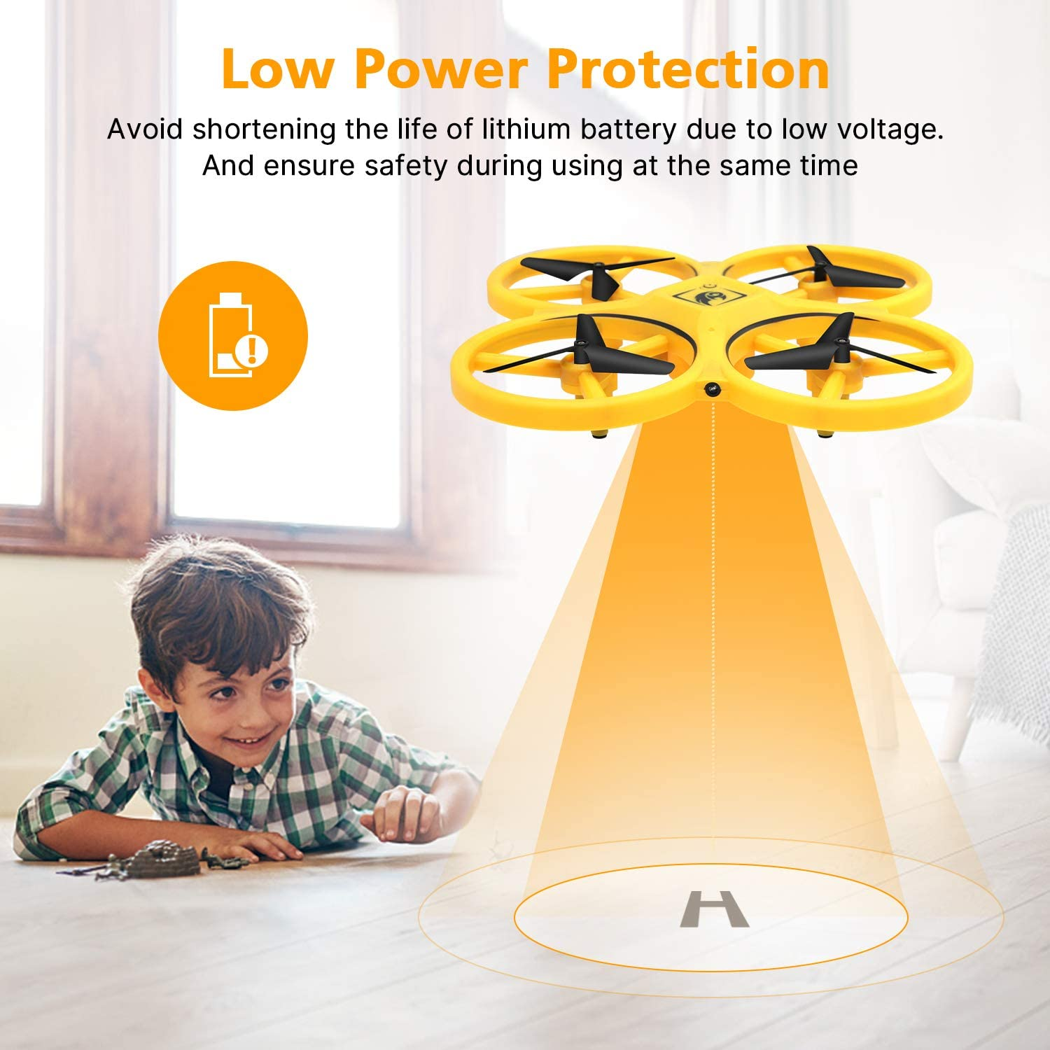 UFO RC Mini Quadcopter Induction Drone Smart Watch Remote Sensing Gesture Aircraft Hand Control Drone Altitude Hold Kids 6