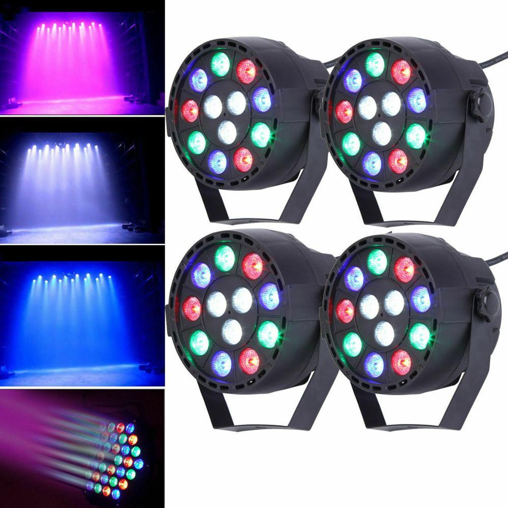 4 × 12 LED RGBW 4 en 1 DMX par iluminación de escenario Bar Pub fiesta DJ efecto disco Linterna multifunción UltraFire Linterna recargable con USB para mantenimiento de trabajo, Luz de emergencia, Luz LED magnética, linterna