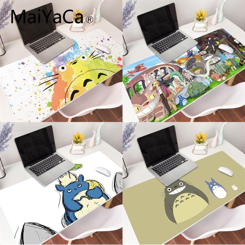 MaiYaCa Cute Cartoon Happy Totoro Laptop Gaming Mice Mousepad Gaming Mouse Pad Large Deak Mat 700x300mm for overwatch/cs go