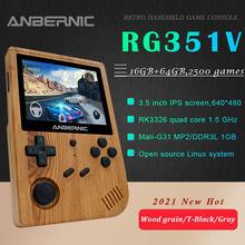 ANBERNIC – console de jeu rétro portable RG351V, 16 go RK3326 intégrée, 3.5 pouces, 640x480, émulateur pour PS1, cadeau pour enfant, nouveauté