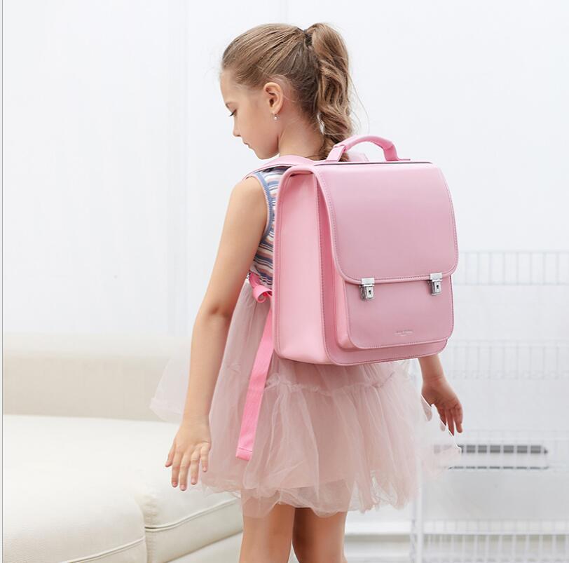 Japan School Backpack For Girls  Kids Orthopedic Backpack Book Bags Children PU Japan School Bag Students Backpack Bag  For Kids