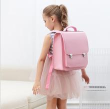 Japonia tornister plecak szkolny dla dziewczynek dzieci ortopedyczne plecak torby książki dla dzieci PU japonia torba szkolna studenci plecak torba dla dzieci tanie tanio ZIRANYU zipper Stałe Dziewczyny 16cm 1 3kg 29cm Torby szkolne 35cm