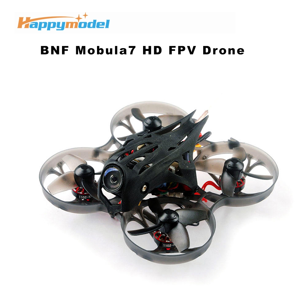 Happymodel Mobula7 HD 2-3S 75mm Crazybee F4 Pro Whoop FPV Racing Drone PNP BNF w/ CADDX Turtle V2 HD Camera