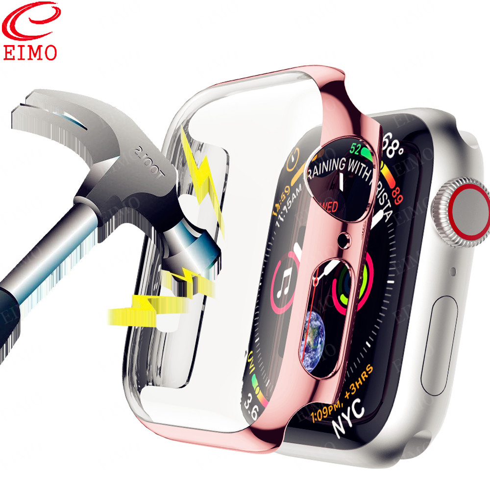 Screen Protective Case For Apple Watch 5 44mm 40mm Iwatch Band 42mm 38mm Plating Pc Bumper Watchband Bracelet Apple Watch Band 4