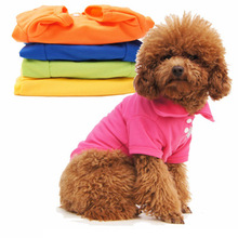 цена на T Shirt Dog Shirt Cotton Polo-T Shirt Honden Solid Pet Dog Clothes For Small Dogs Cat Chihuahua French Bulldog Suit For Dogs Pet