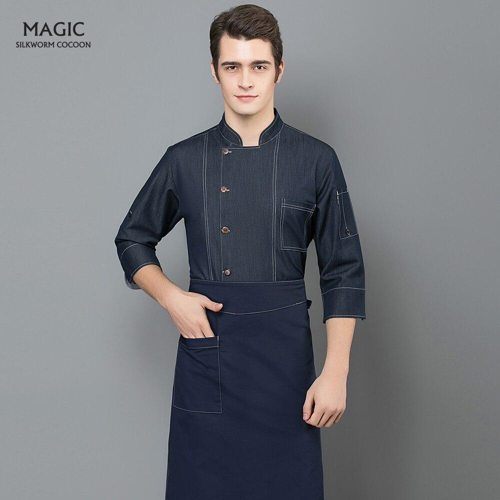 Restaurant Hotel BBQ Kitchen High Quality Workwear Clothing Black Short Sleeve Master Cook Work Uniforms Food Service Chef Tops