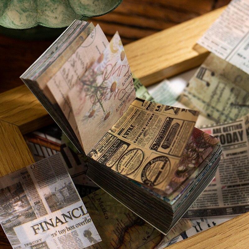 365pcs/lot Creative Sulfuric Acid Paper Material Book Vintage Manuscript Base Collage Decoration Sticker Bullet Journal Material