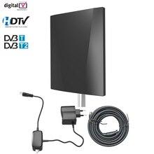 HD טלוויזיה דיגיטלית אנטנה תמיכת DVB T2 ATSC ISDBT חיצוני/מקורה אנטנת טלוויזיה אות מגבר גבוהה רווח נמוך רעש עם קואקסיאלי
