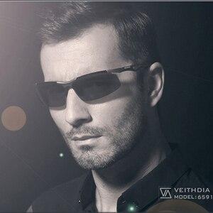 Image 5 - VEITHDIA 선글라스 알루미늄 마그네슘 무테 UV400 남성 선글라스 편광 된 태양 안경 안경 Accessorie 남성 남성 6591