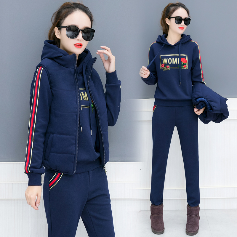 Plus Size Warm Sweater 3 2 Piece Set Tracksuit For Women Outfits Matching Co-ord Top Pant Suits Winter Long Sleeve Clothing