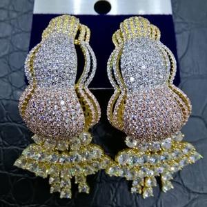 Image 1 - GODKI Trendy Curtain Tassels African Earrings For Women Earrings Geometric Drop Earring 2020 Brincos Female DIY Fashion Jewelry