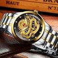 Мужские водонепроницаемые кварцевые часы с циферблатом дракона
