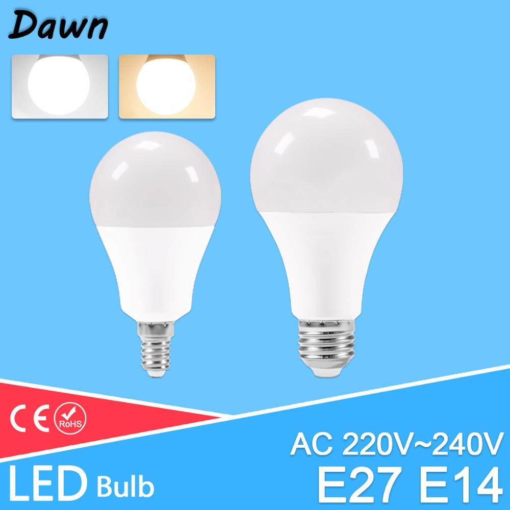 Led e27 e14 lâmpadas ac220v 240v alto brilho lâmpada 24w 20 18 15 12 9 5 3 led e14 branco quente frio branco